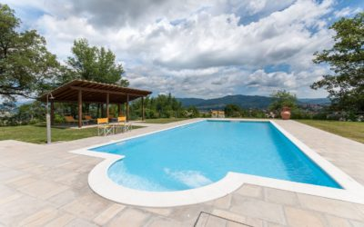 Tuscany Holiday Villa 'Borgo La Casa', Poppi, Tuscany for 4, 6 or 10 people with swimming pool and children playground